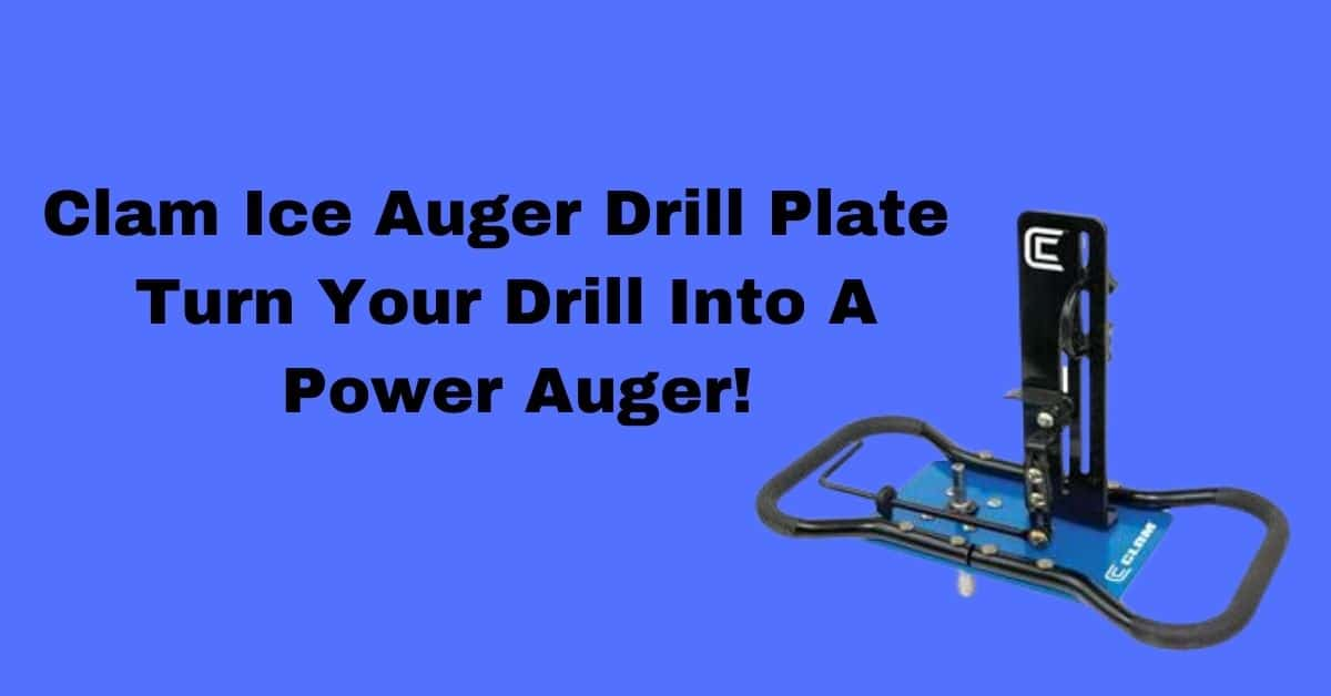Clam Ice Auger Drill Plate