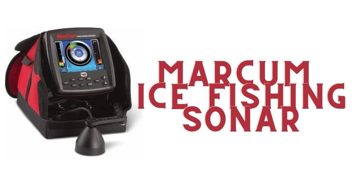 Marcum ice fishing sonar.