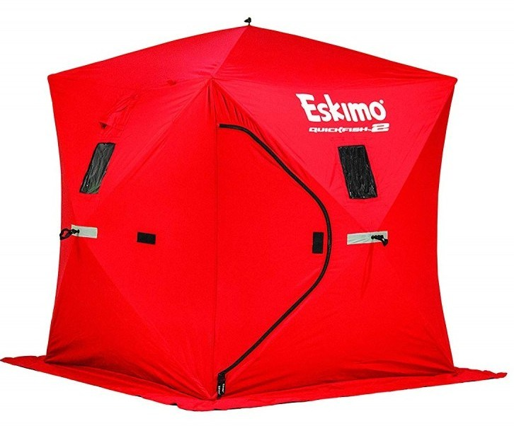 Red Eskimo Quickfish 2 ice fishing shelter