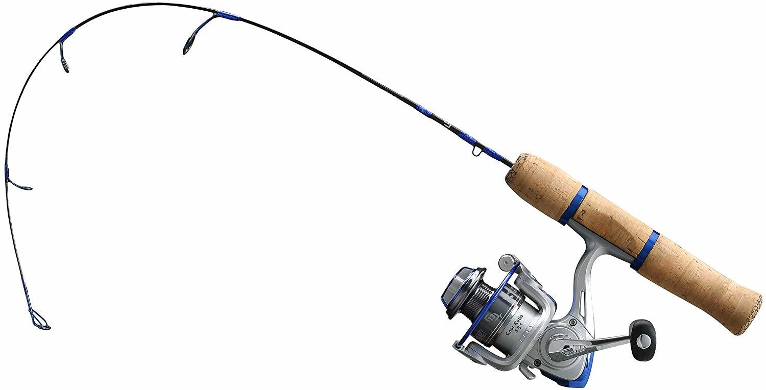 13 fishing white noise light ice fishing rod and reel combo
