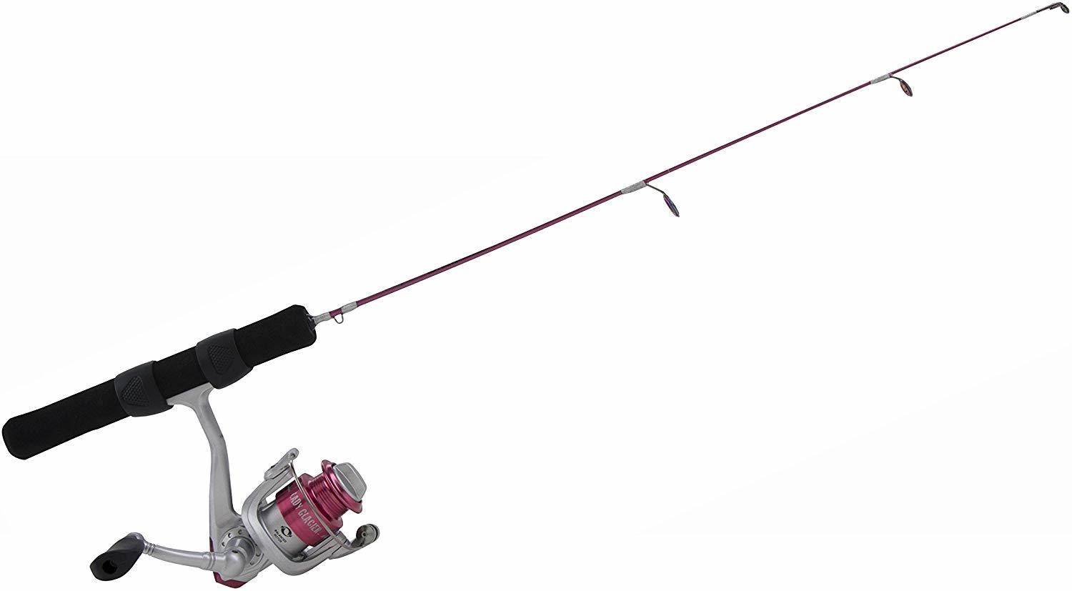 Shakespear glacier ice fishing rod and reel combo.