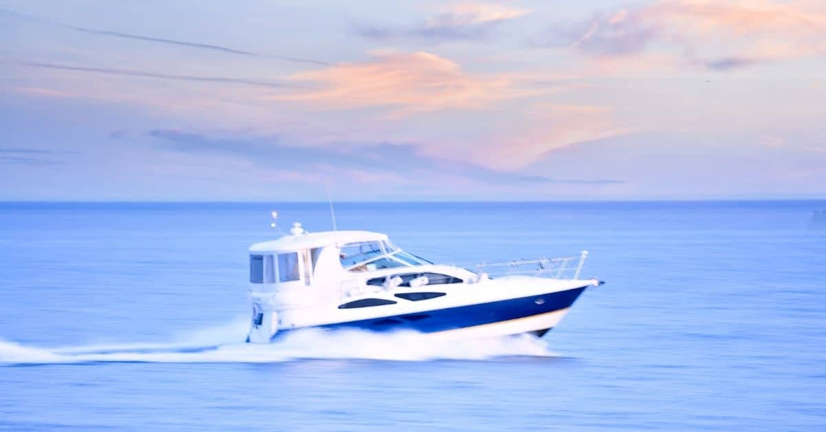 Boat Speeding in the Ocean