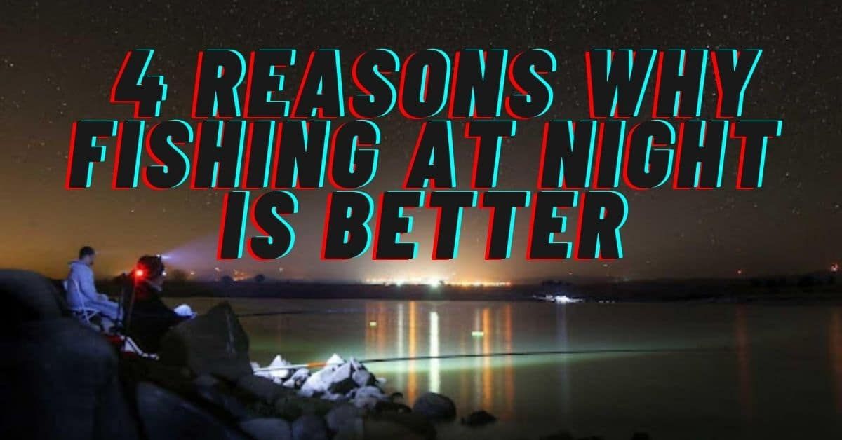 Two People on rocky shore fishing at night - Reasons why night fishing is better
